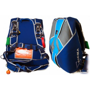 Sigma Skydiving Tandem Harness/ Container